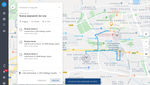 Ruta optimizada Smart People GPS